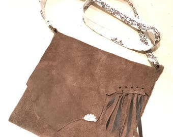 Forget Me Knot Suede Leather Bag
