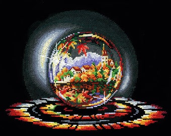 Cross Stitch Kit Create With Your Hands   - Balls Desires ; Autumn Dream