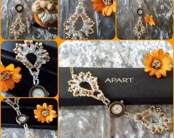 """Modern, Fancy wristwatch """"model Ariana"""" in a noble jewelry case"""