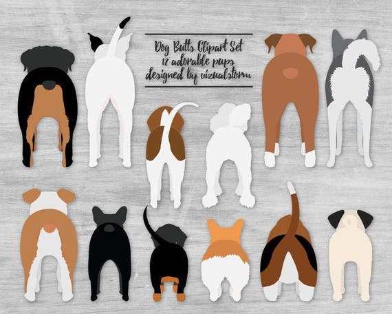 Dog Butt Clipart Cute Pet Butts Funny Puppy Dog Clipart