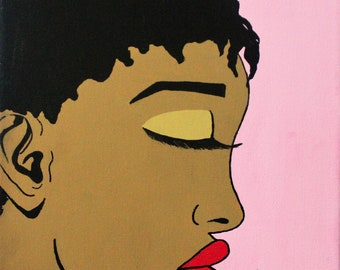 Pop Art/ Comic Style Canvas Painting