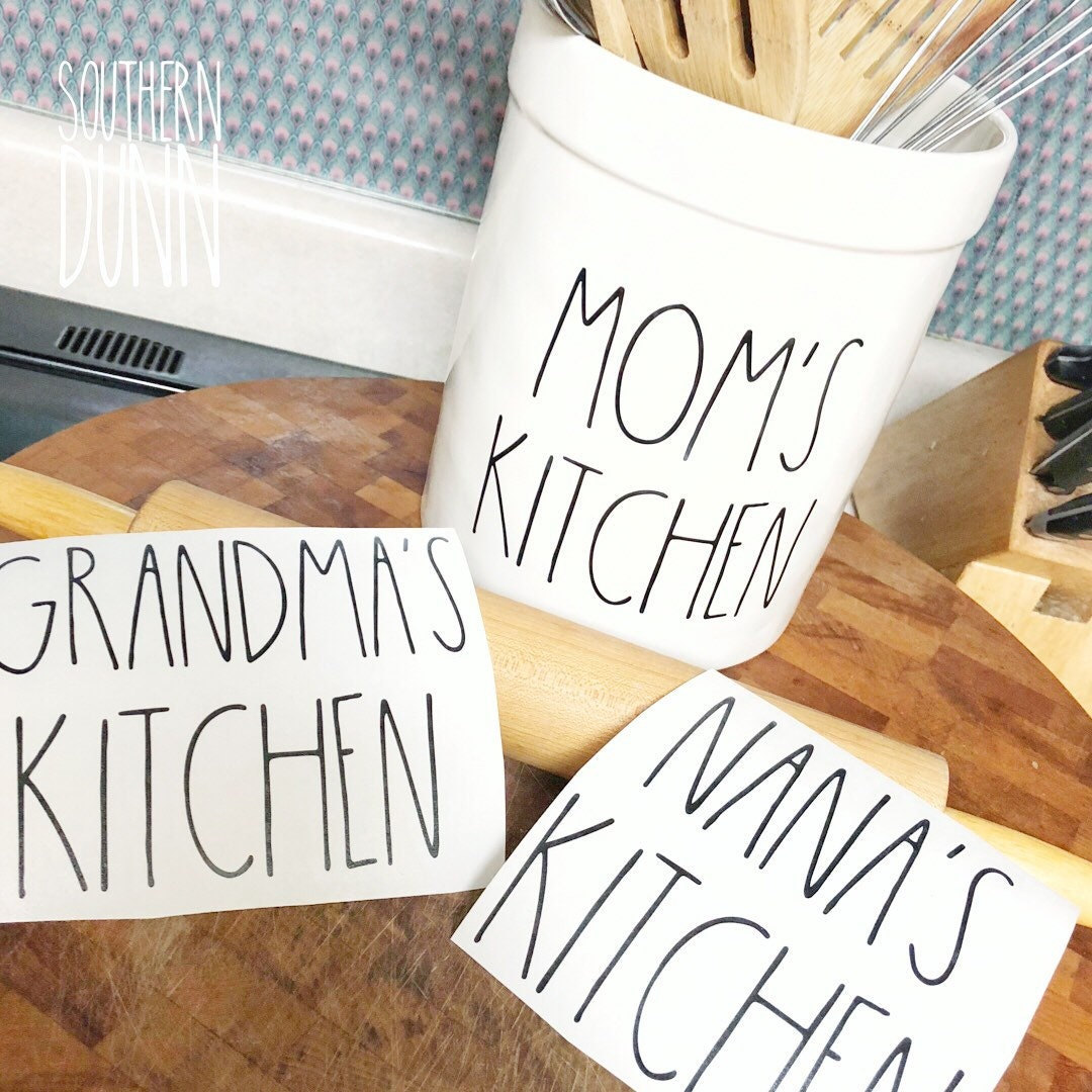 Rae Dunn Inspired DECAL ONLY Mom\'s Kitchen, Grandma\'s Kitchen Decal ...