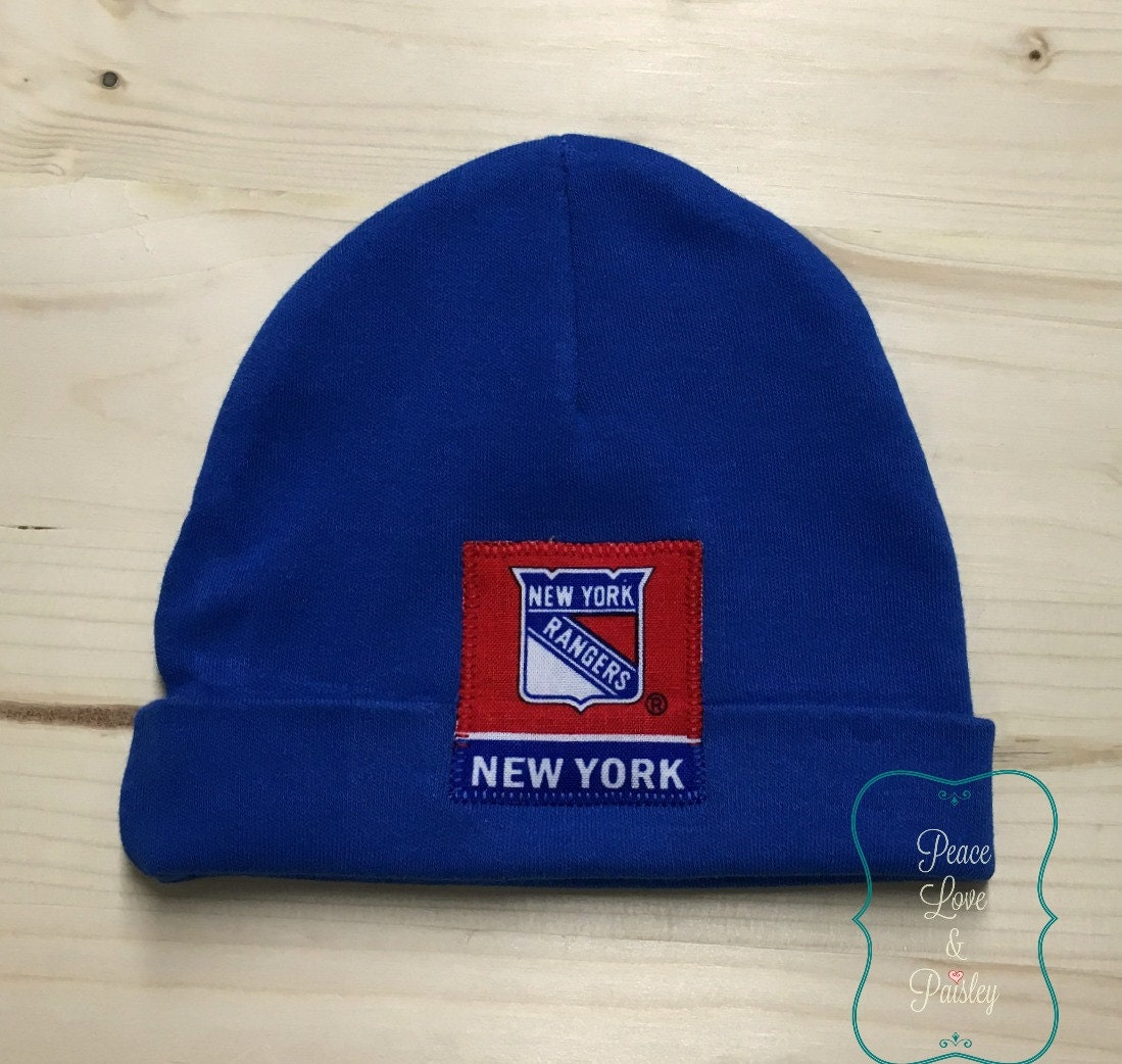 ffd8d00c6 Vancouver Canucks detail page  various design c9c19 0b10e New York Rangers  Baby Hat Made from NY Rangers Fabric NY ...