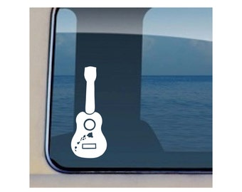 Ukulele Hawaii Music Decal 460