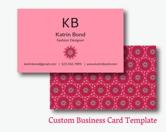 Cool business cards etsy business card template calling cards custom business cards unique business card template fbccfo Image collections