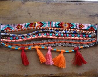Bracelet multi tier loving - cuff - Brazilian - friendship bracelet bracelet - woven - Bohemian - bohemian - pearls - ethnic