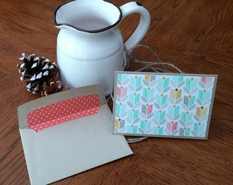 Set of 4 Blank Note Cards with Matching Envelopes