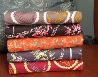 FreeSpirit one yard fabric bundle-five yards total