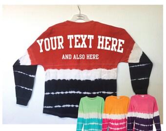 Custom Tie Dye Pom Pom Jersey Personalized Tie-Dye Billboard Shirt Game Day Jersey Spirit Wear Gifts for her Duo Tone Jersey Merica