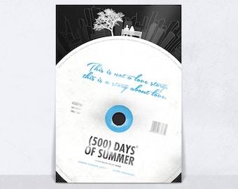 500 Days Of Summer Wall Art Poster, Zooey Deschanel, Joseph Gordon Levitt, I Love You, Love Print, Vinyl Poster, Love Wall Art, Wall Decor.