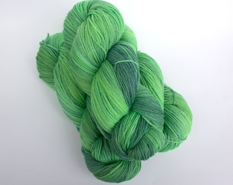 """Spring Green colorway on my 'Bliss"""" base/434 yards of fingering weight"""