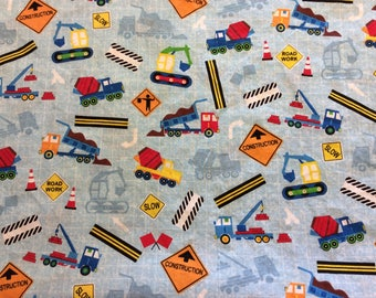 Booster Seat Cover, Constructions Trucks and Signs