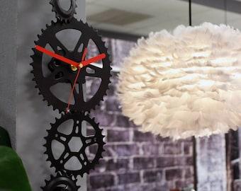 Wall bike clock SAW