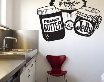 Vinyl Wall Decal Sticker Peanut Butter and Jelly OSDC583m
