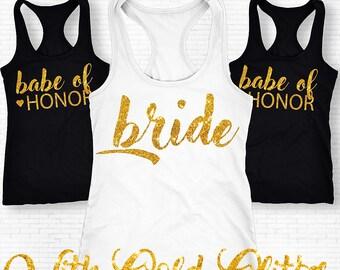 Bachelorette Party Shirts, Bridesmaid Tanks, Bridesmaids Gift, Brides Babe Shirt, Bride Shirt, Bachelorette Shirts, Bachelorette Tanks