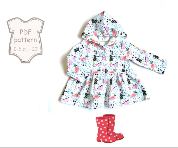 Baby Hoodie Sewing Pattern Baby jacket pattern Jacket sewing