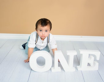 The Birthday Banner ONE, Letters for Baby Photo Prop