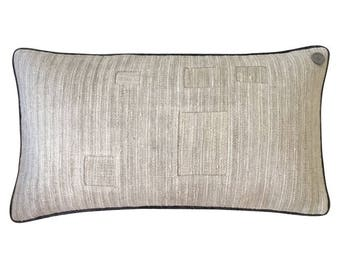 Antique German Grain Sack Pillow from 1894 - 24 x 12""