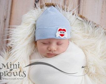Newborn boy hat baby boy hospital hat infant hospital hat newborn boy hospital hat newborn boy beanie baby boy hat newborn hat boy outfit