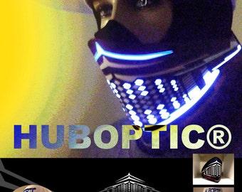 JET Rave Mask / Light Up Bandana Mask Robot Mask LED Sound Reactive for Cyborg masquerade edc DJ gigs tron Glow subzero Hero Villain