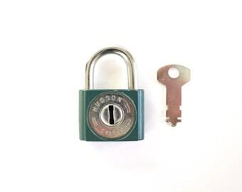 Vintage lock and Key . vintage padlock and key . hudson lock . old key to my heart art padlock key vintage key