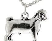 Sterling Silver Wether Goat, FFA Cowgirl Jewelry, 4H Goat Jewelry, Farm Animal Jewelry, Show Goat Necklace, Farm Girl, FFA, 4H, Livestock