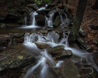 Waterfall cascade, Leverett, Western Massachusetts