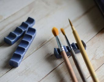 Pottery Lavender Paintbrush Rest - Calligraphy Material