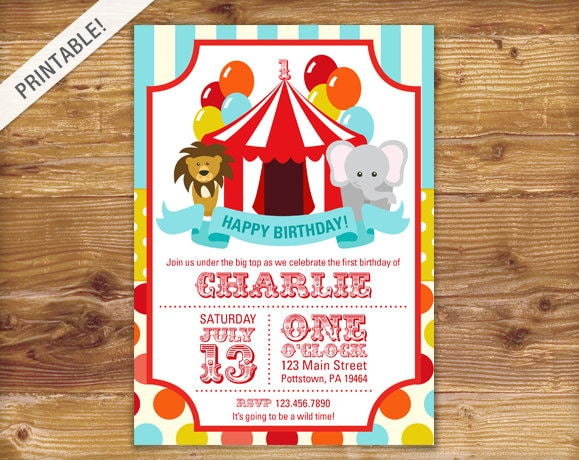 First birthday carnival invite circus invitation carnival zoom filmwisefo Images