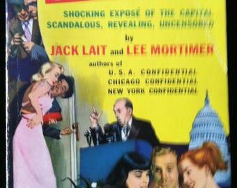 Vintage Paperback Dell D108 Washington Confidential by Lait and Mortimer 1954 NM Unread