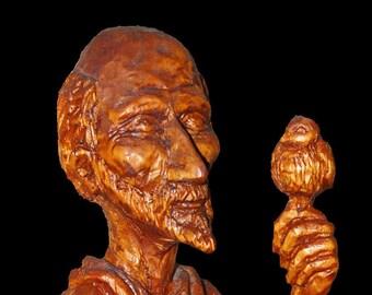 Saint Francis sculpture