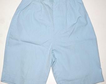 1960s Womens Shorts Sz 4 Vintage Retro Baby Blue