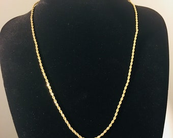 24 inch Gold Plated Rope Chain