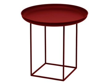 Telles table with removable tray - bordeaux