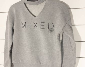 Cut Out Neck Dance Sweatshirt