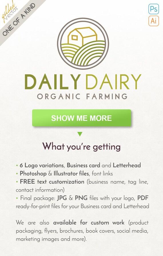 Farm Logo Hill Logo Nature LogoFood Logo Minimalist Logo