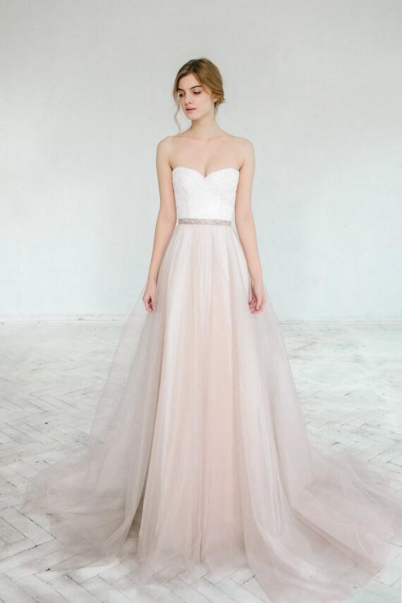 Blush wedding gown // Dahlia / Sweetheart corset wedding