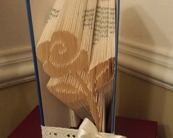 Book folding pattern for a Flower ~ Rose ~ +FREE TUTORIAL