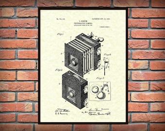 Patent 1903 Photographic Camera - Art Print - Poster Print - Wall Art - Photography - Lithography - Photographer Equipment