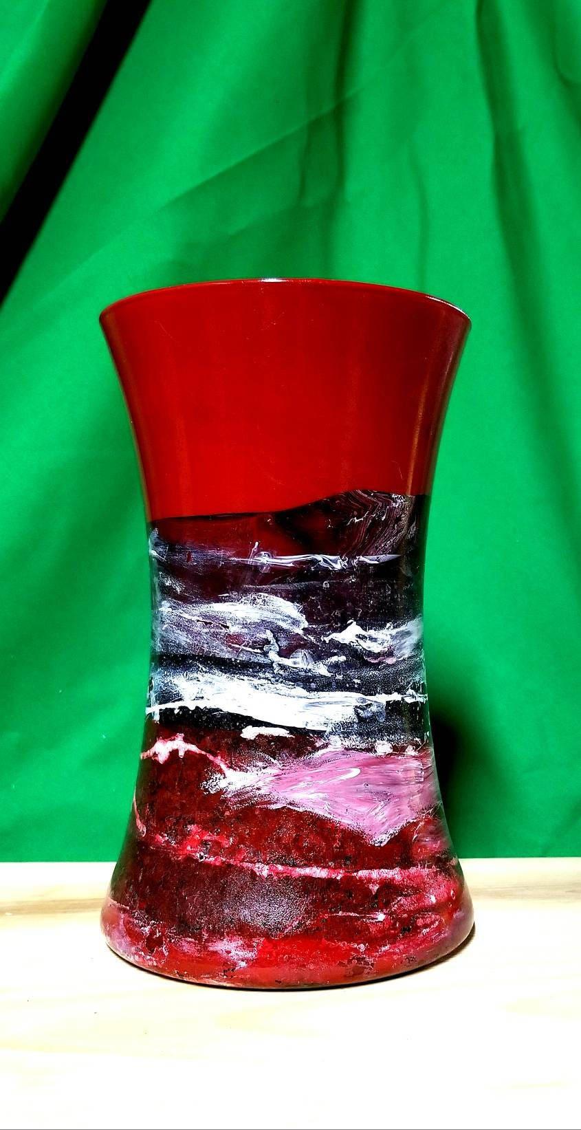 Black red glass vase moderntall red vasemodern red glass zoom reviewsmspy