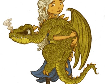 Mother of Dragons Art, Danerys Targaryen Art, Game of Thrones Art, Game of Thrones Gift, Game of Thrones Print, Game of Thrones Nursery