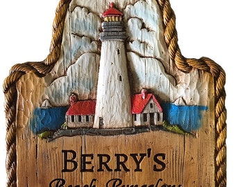 Lighthouse Personalized Sign
