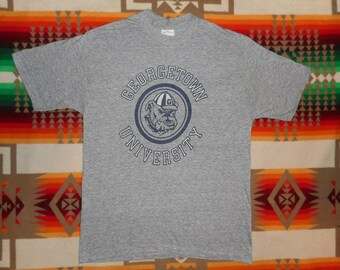 Georgetown University Heather Grey T Shirt Sz S/M