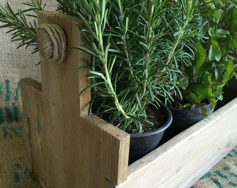 storage box in raw wood.
