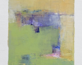 Apr. 27, 2018 - Original Abstract Oil Painting - 9x9 painting (9 x 9 cm - app. 4 x 4 inch) with 8 x 10 inch mat