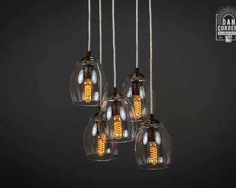 Chandelier | Pendant Light Fixture | Oil Rubbed Bronze | Pendant | Entry Light | Light Fixture | Pendant Light | 5-Port
