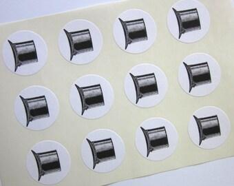 Top Hat Stickers One Inch Round Seals