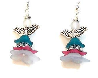 Angel Earrings -Guardian Angel Earrings - Cherub Angel Earrings - Angel Jewelry - Christmas Earrings - Religious Earrings - Cherub Jewelry