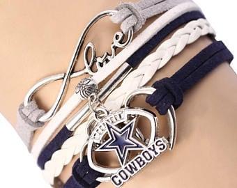 Dallas cowboy bracelet multi strand infinity bangle cowboys bracelet