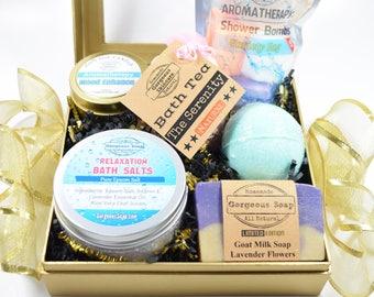 Spa Gift Box - Spa Gift Set for Mom, Spa Gift Basket for Women, Spa Gift Set Christmas, Spa Gift Set Birthday, Spa Gifts for Women, Spa Set